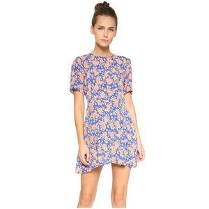 Tularosa | Revolve Blue Floral Iris Mini Dress
